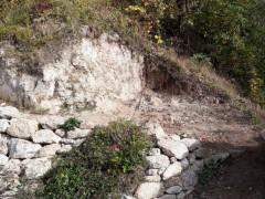 Innenhofmauer Südseite - Freilegung