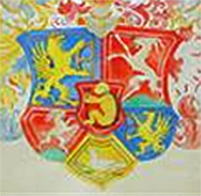 Farbige Version des Wappens