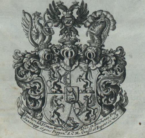 "Abbildung des Wappens aus dem Buch ""Topographia Windhagiana"""